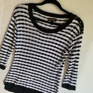 Dana Buchanan black and white striped top